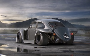 Картинка Volkswagen, Car, Old, Beetle, Tuning, Future, DRAG, by Khyzyl Saleem