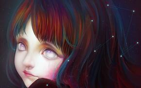 Картинка звезды, крупный план, Девочка, созвездие