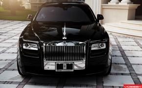 Картинка Rolls Royce, Ghost, передок, Vossen Wheels