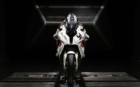 Картинка белый, BMW, мотоцикл, спортивный, sportbike