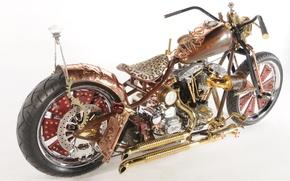 Картинка дизайн, стиль, фон, тюнинг, мощь, мотоцикл, форма, аэрография, байк, киберпанк