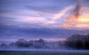 Картинка облака, туман, Утро