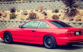 Картинка Красная, BMW, БМВ, Red, E31, 1997, 850ci