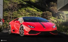 Обои car, red, Lamborghini Huracan