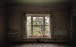 Картинка комната, окно, ракетка