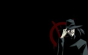 Обои черный, вендетта, Vendetta