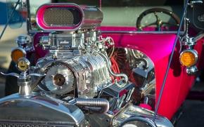 Обои 1923, hot-rod, двигатель, Ford