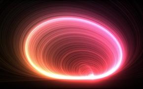 Картинка волны, круги, абстракция, цвет