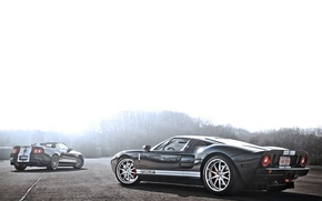 Картинка Mustang, Ford, Shelby, GT500, мустанг, серебристый, кабриолет, мускул кар, форд, блик, шелби, rear, Muscle car, ...