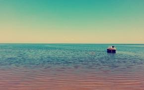 Картинка море, белое, лодка