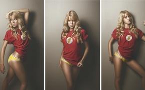 Картинка девушка, фото-сессия, Flash, Комиксы, Флэш