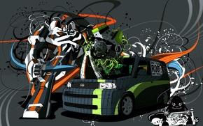 Картинка авто, вектор, Робот, фургон, Трансформеры