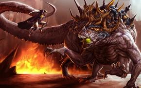 Картинка sword, monster, armor, warrior, creature