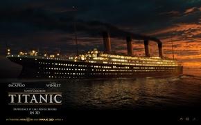 Картинка Ночь, Корабль, Титаник, Titanic