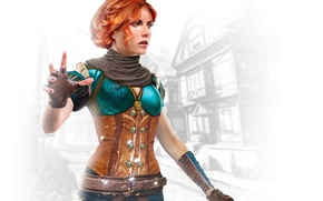 Обои чародейка, Трисс Меригольд, Triss Merigold, Witcher 3: Wild Hunt