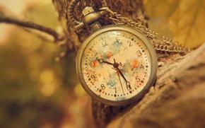 Картинка стрелки, часы, цифры, цепочка