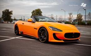 Картинка Maserati, кабриолет, мазерати, orange, Convertible, Gran Turismo, V-8, SR Auto Group, Atomic