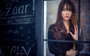 Картинка взгляд, девушка, азиатка