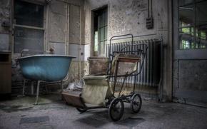 Картинка ванна, коляска, палата