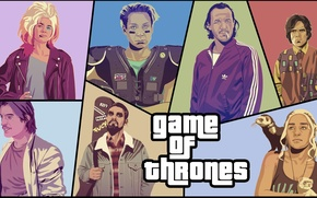 Картинка пародия, GTA, Игра Престолов, Game of Thrones