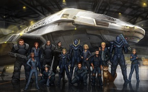 Картинка ангар, art, team, spaceship
