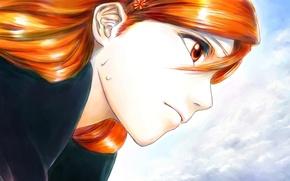 Картинка девушка, лицо, Anime, bleach, Orihime Inoue, Орихиме Иноуэ