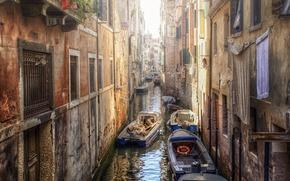 Картинка дома, лодки, Венеция, канал