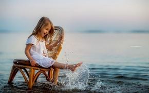 Картинка лето, вода, девочка
