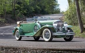 Картинка купе, Coupe, Convertible, 1930, Duesenberg, дюсенберг, откидной верх