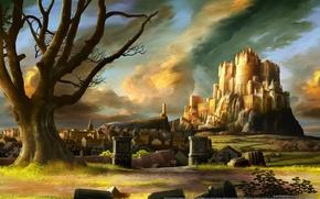 Картинка пейзаж, замок, дворец, castle, game wallpapers, Dragon's Crown