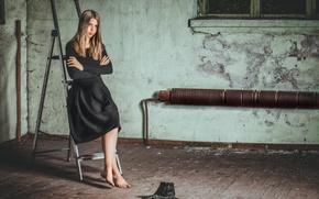 Картинка девочка, взгляд, ботинки