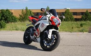 Картинка мотоцикл, suzuki, bike, сузуки, супеспорт, gsx-r750, lucky strike, лаки страйк