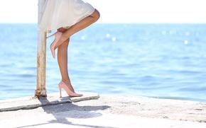 Картинка dress, legs, water, heels