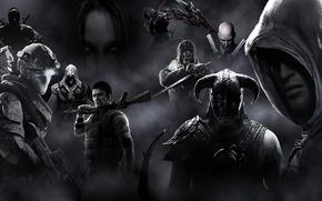 Обои игра, Prototype, Hitman, The Elder Scrolls V: Skyrim, Эцио, Dishonored, Ezio Auditore da Firenze, F.E.A.R, ...