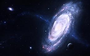 Обои Звезды, Planets, Stars, Space, Галактики, Galaxies