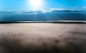 Картинка тучи, высота, Солнце, Небо, Облака, Туман, Ночь, Свет, Галич