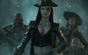 Картинка шляпа, пират, повязка, одноглазая