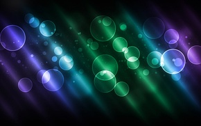 Обои цвет, круги, свечение