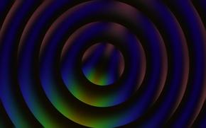 Картинка линии, круги, слои