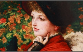 Картинка девушка, масло, портрет, картина, живопись