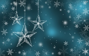 Картинка зима, праздник, звезда, снежинка
