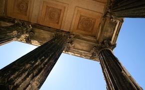 Картинка Франция, архитектура, колонна, Лангедок-Руссильон, Гар, Мезон Карре, древнеримский храм, Ним