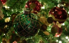 Картинка игрушки, елка, новый год, шар, рождество, укращение