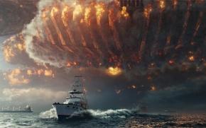 Картинка Море, Корабль, Independence Day: Resurgence, Move, День независимости: Возрождение