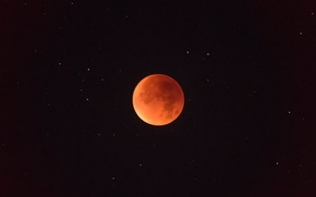 Картинка ночь, звёзды, полнолуние, кровавая луна, 2015