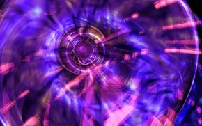 Обои свет, цвет, круг, кольцо, узор, объем
