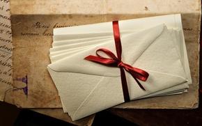 Картинка бумага, vintage, чернила, винтаж, ленточка, старая, письма, конверты