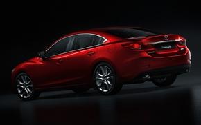 Картинка red, Auto, sedan, mazda-6