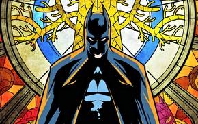 Картинка фильм, бэтмен, герой, витраж, Batman, комиксы, тёмный рыцарь, hero, bruce wayne, брюс уэйн