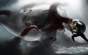 Картинка anime, monsters, berserk, guts